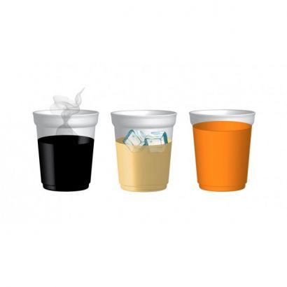 Verre éco plastique réutilisable personnalisable